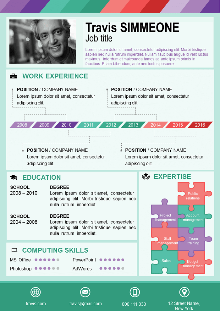 Green color Resume