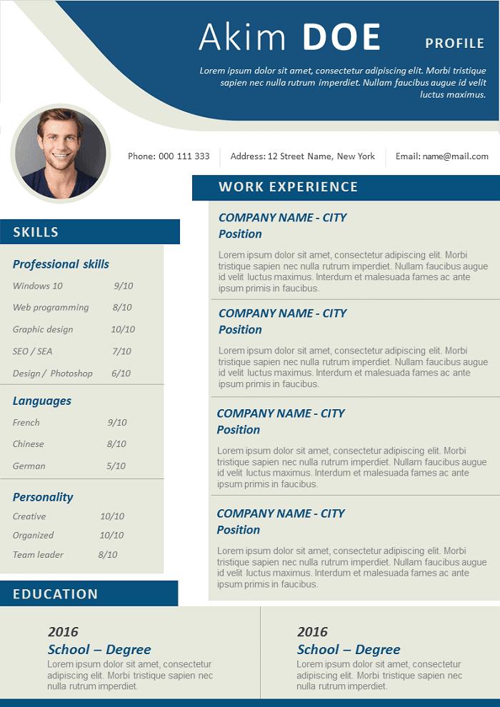 Clean Design Resume