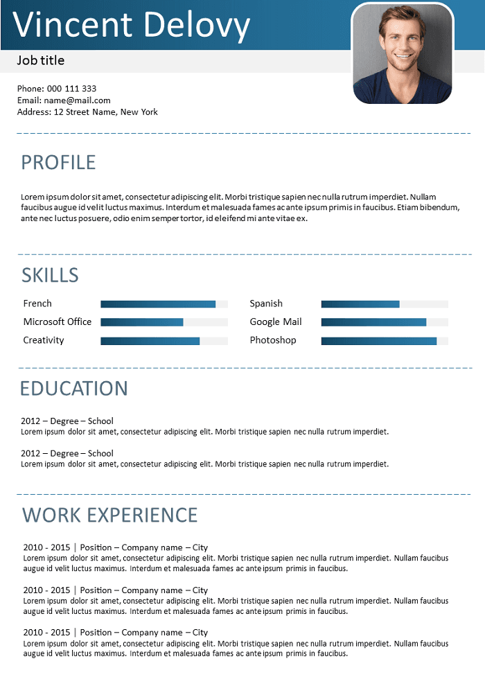 Simple coloured Resume