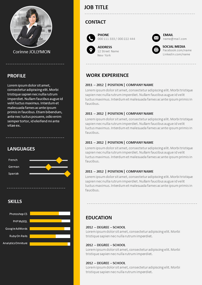 Resume Sober and Convincing