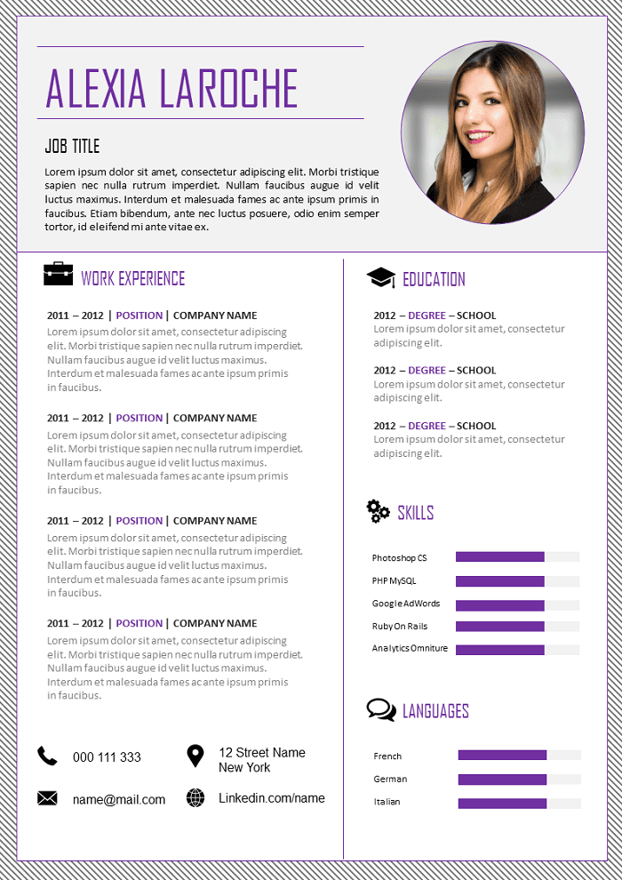free resume professional to download
