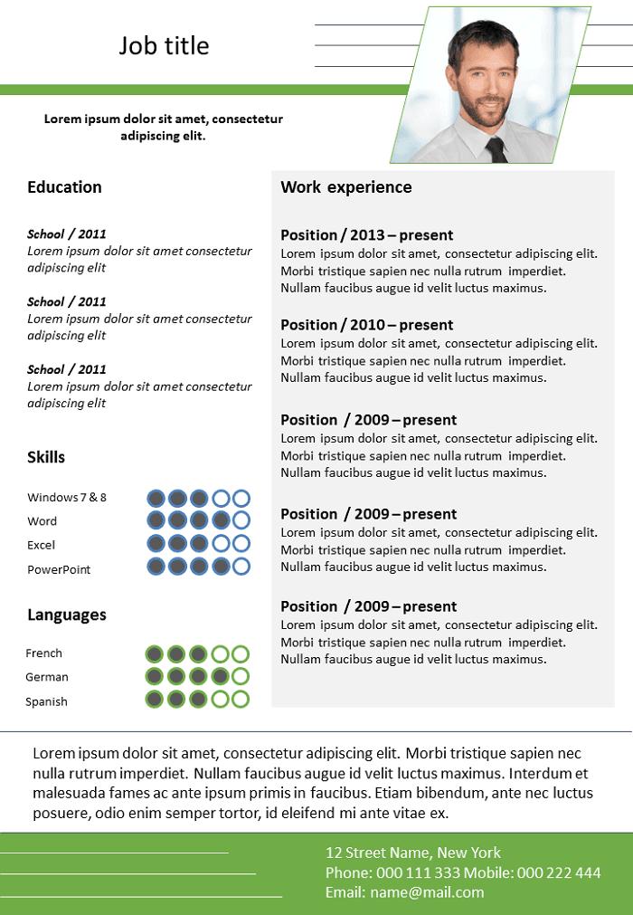 Resume Adjustable