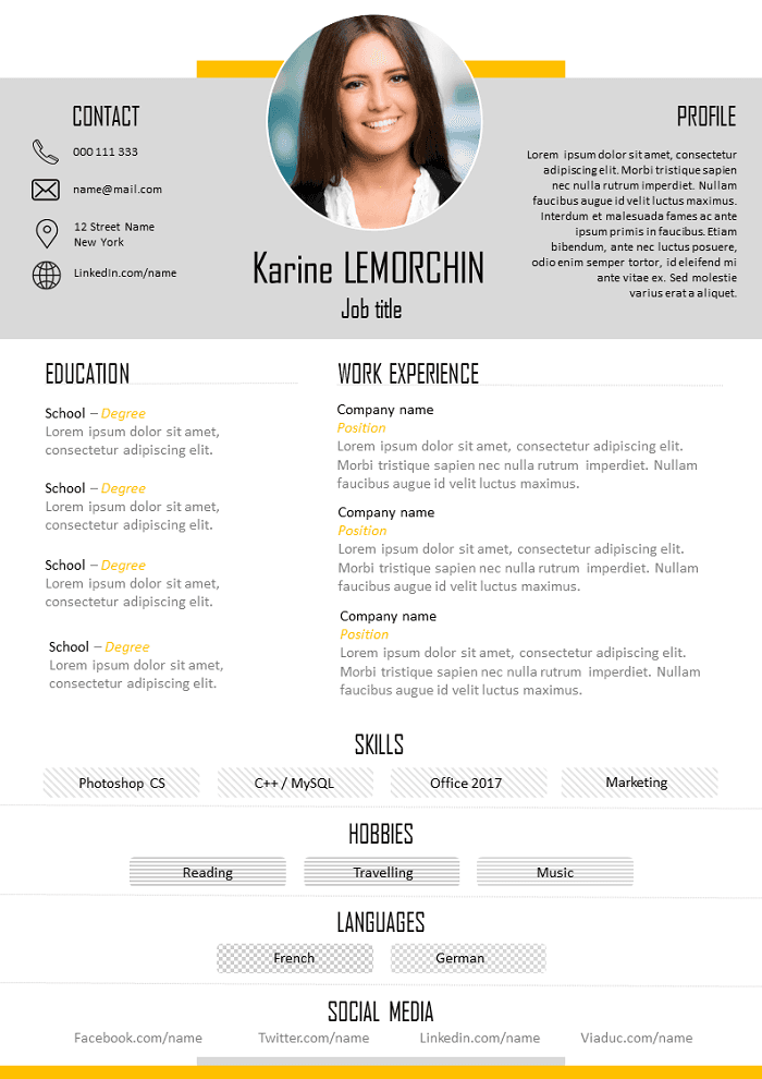 Free Resume Good To Download