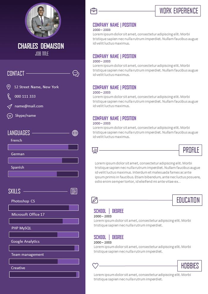 Bright Resume