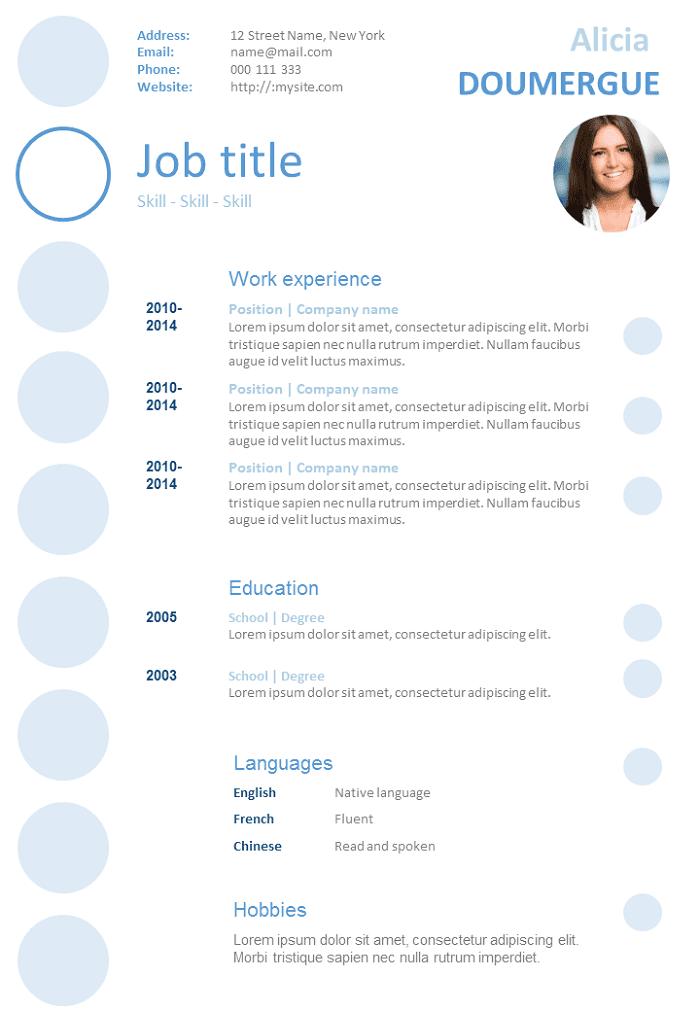Resume Bubbles