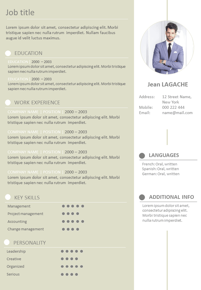 Resume Creative and formal