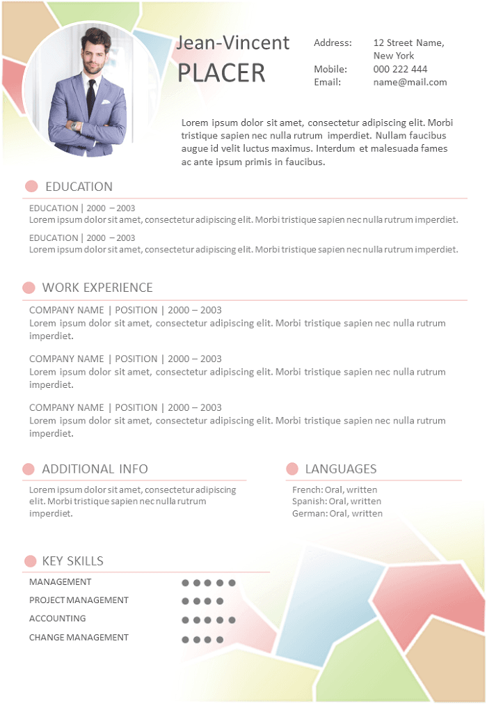 Resume Dynamic and coloured