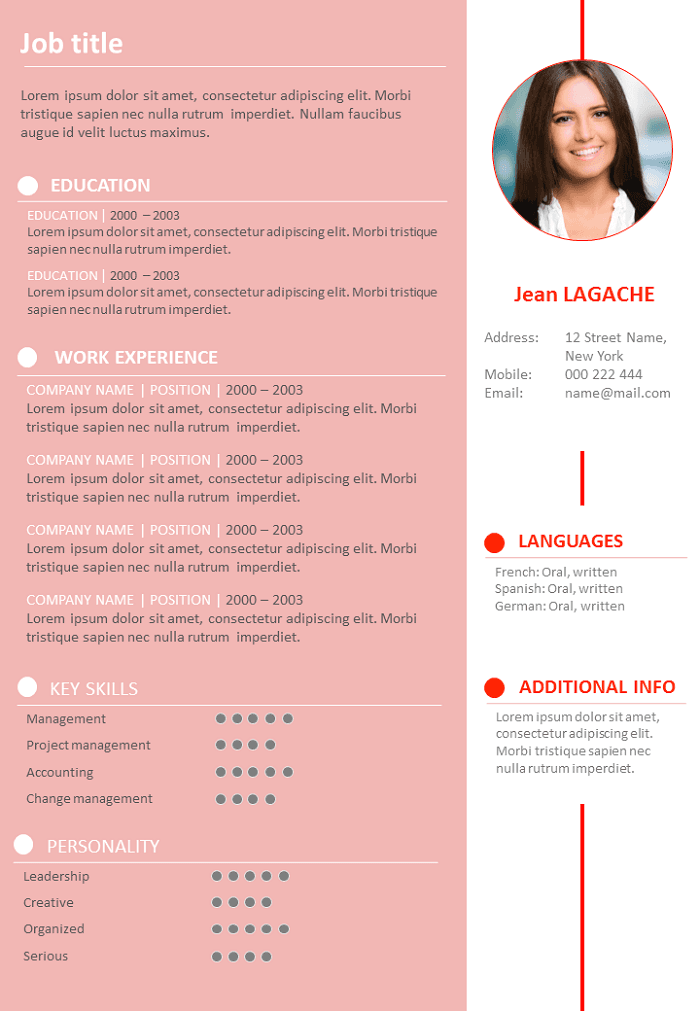 Pink resume