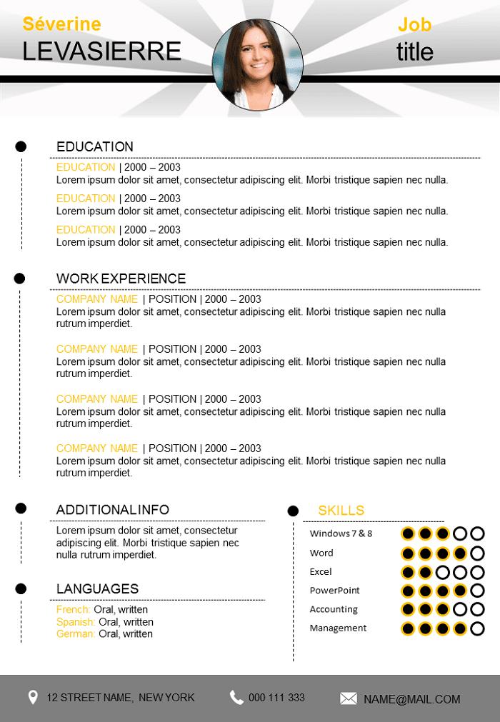 Creative resume free