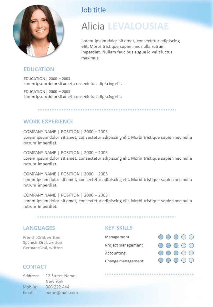 free resume beginner to download