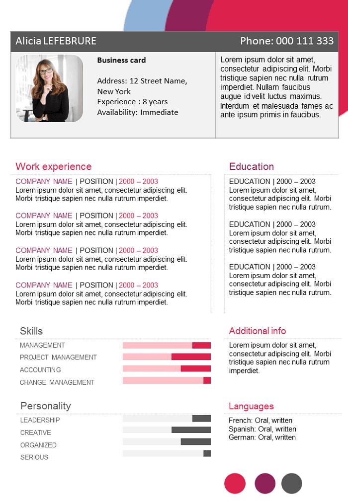 Functional resume