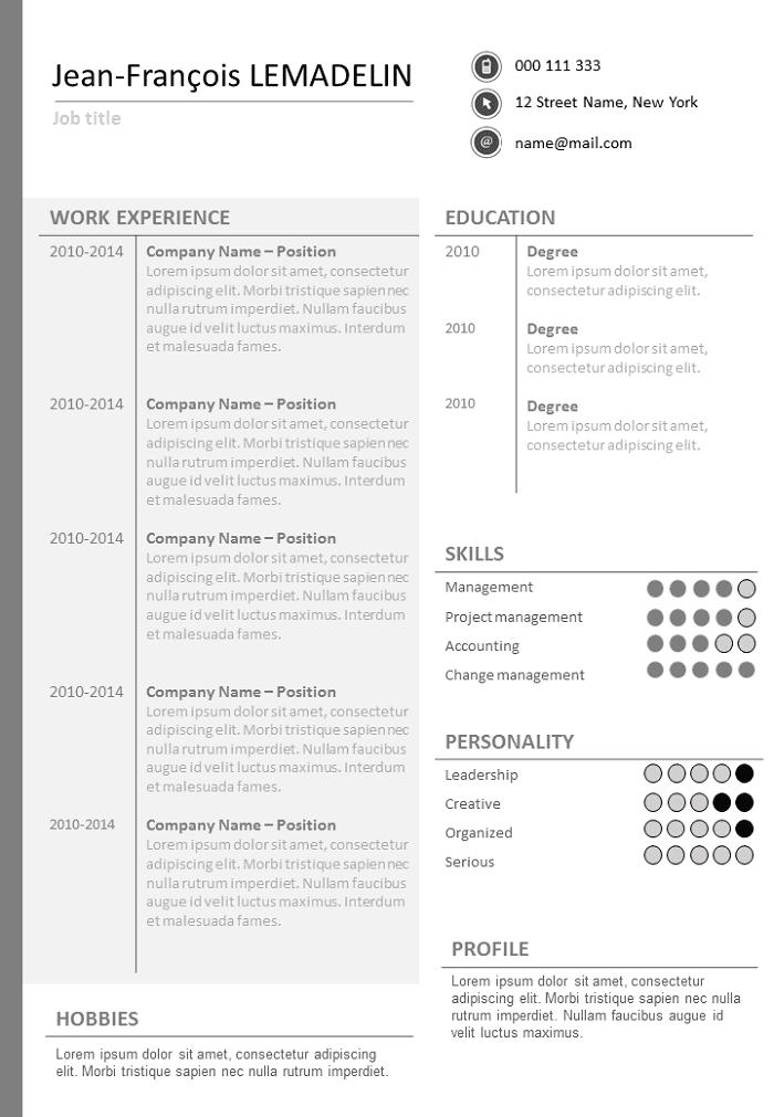 Uncluttered Resume