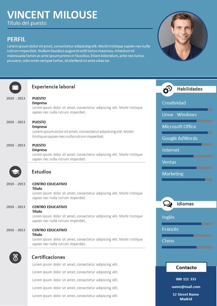 Modelo de CV Profesional para Descargar : Libre