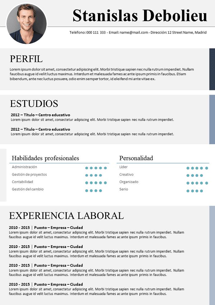 Modelo De Cv Oxford Para Descargar Libre