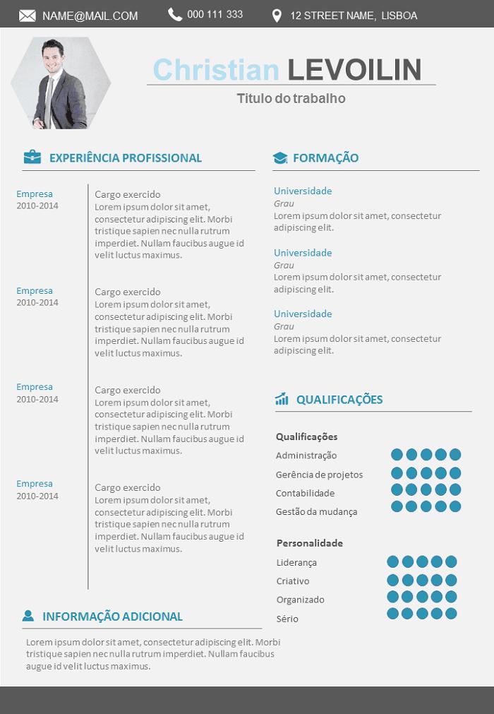 Modelo de currículo Design Executivo para Baixar : Grátis