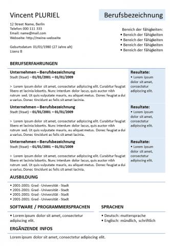 Lebenslauf zum herunterladen (Powerpoint)