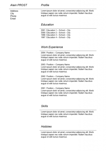 Resume Basic grey