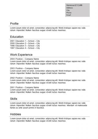 Resume  Standard