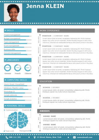 Blue design Resume