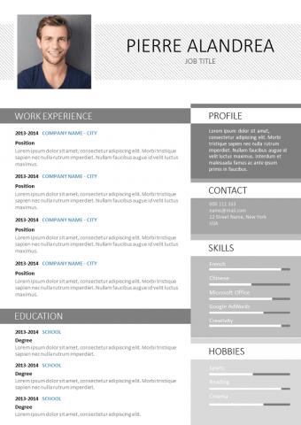 Resume Created with Photoshop