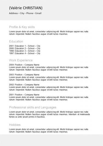 Resume Basic with border