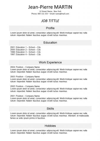 Resume On line