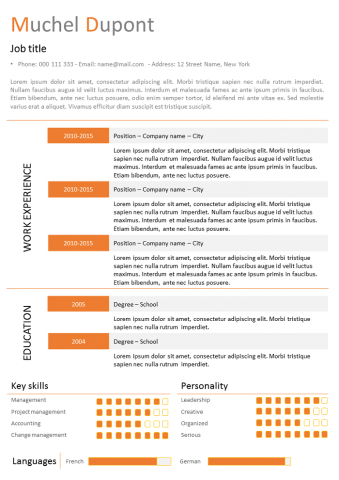 Orange Resume