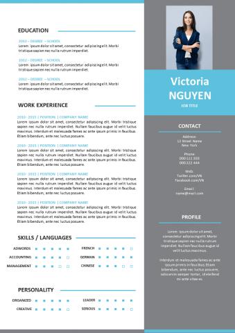 Modern grey Resume