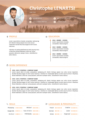 Modern with photo Resume