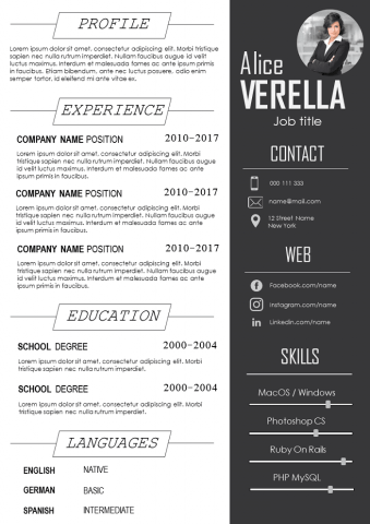 Plain and Bold REsume