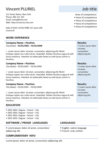 Resume Powerpoint downloadable