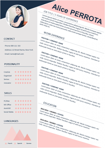 Graded pink REsume