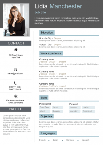 Resume 223 - Classic and Mordern