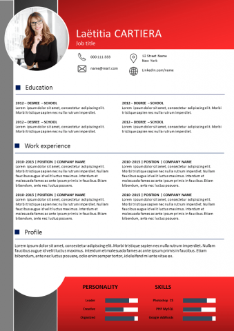 Dark and Red Resume