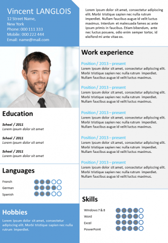 Resume Dynamic blue
