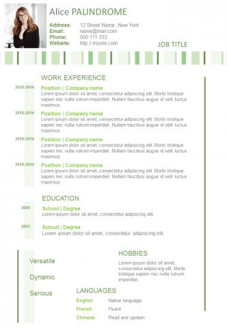 Resume Stripes