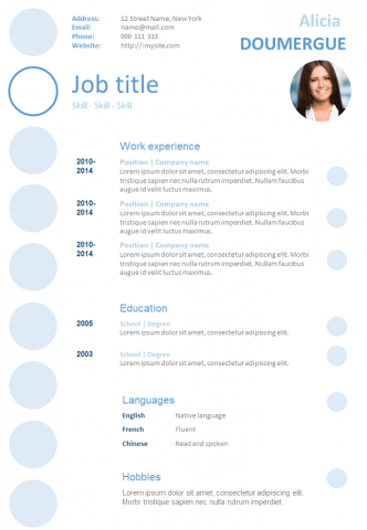 Resume Bubbles