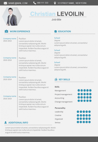 Resume Modern and design