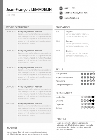 Uncluttered Resume