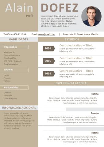 CV Limpio y moderno