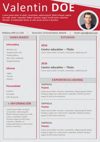 CV Firme y enérgico