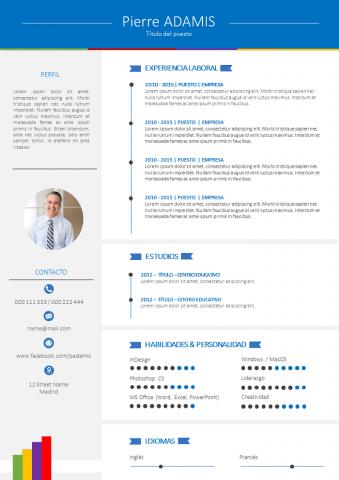 CV Sobrio y dinámico