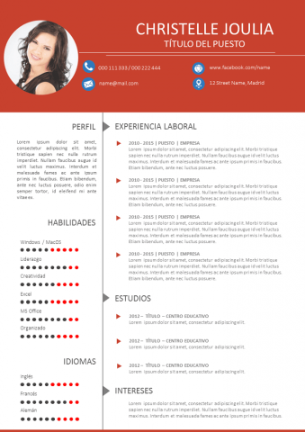 CV Moderno y dinámico