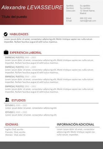 CV Simple y eficaz