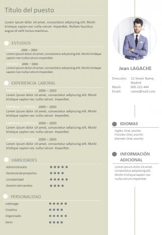 CV Creativo y formal