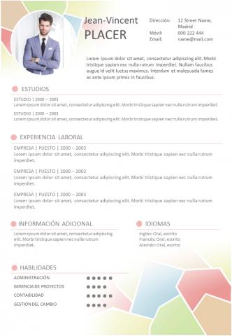 CV Dinámico y coloreado