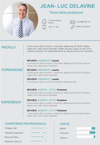 CV Con Esportazione in Pdf