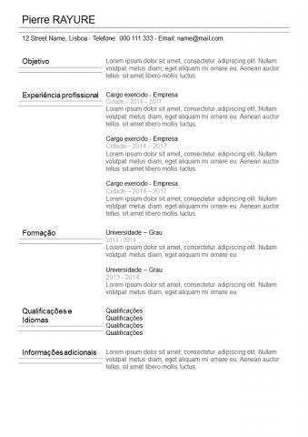 CV Com Listra