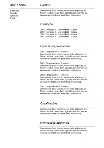 CV Simples Cinza