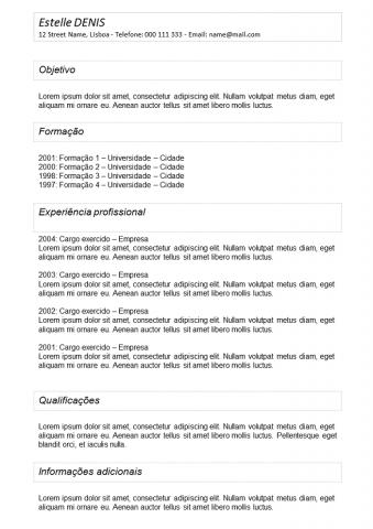 CV Emoldurado